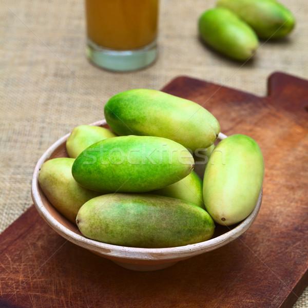 Banana Passionfruit (lat. Passiflora tripartita) Stock photo © ildi