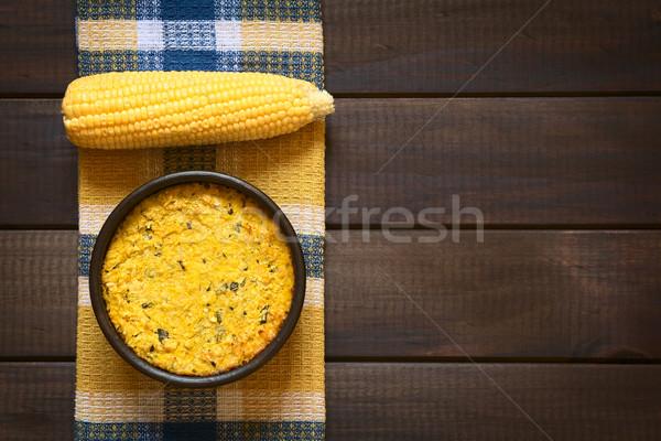 パステル トウモロコシ パイ ショット 伝統的な 務め ストックフォト © ildi