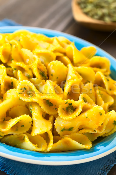 Pasta with Pumpkin and Parsley Sauce  Stock photo © ildi