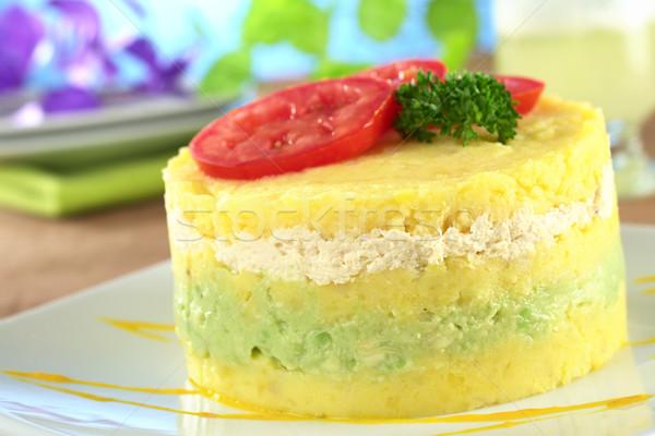 Stock photo: Peruvian Dish Called Causa