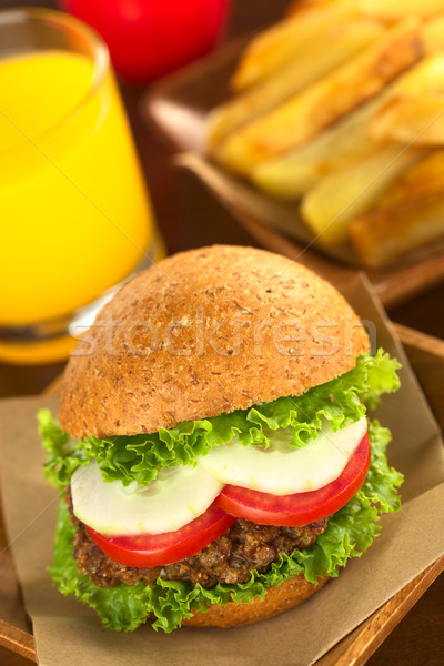 Vegetarian Lentil Burger Stock photo © ildi