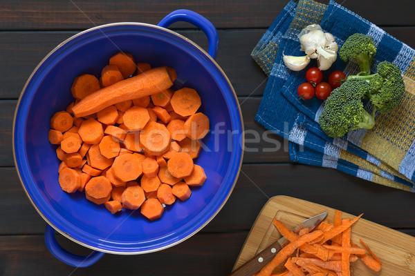 Sliced Carrot in Strainer Stock photo © ildi
