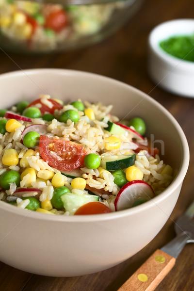 коричневый риса растительное Салат кукурузы Сток-фото © ildi