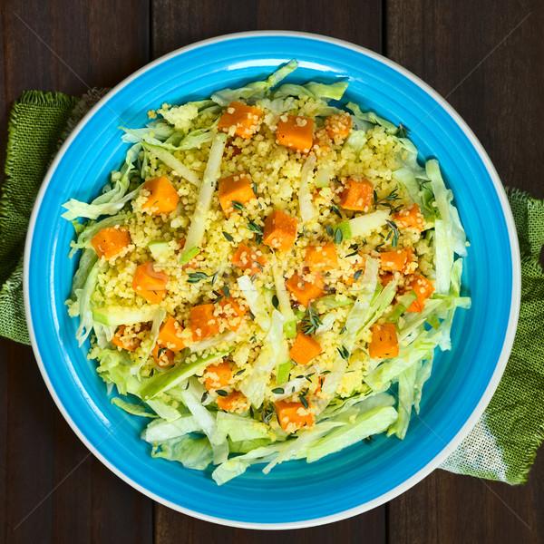 Pompoen appel couscous sla salade Stockfoto © ildi