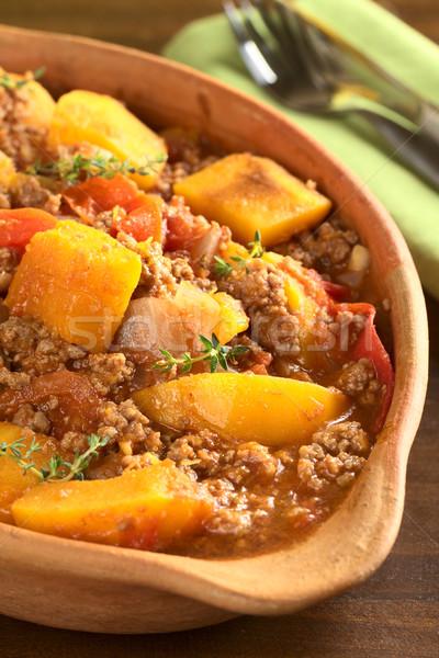 Zucca pomodoro piatto fresche messa a fuoco selettiva focus Foto d'archivio © ildi