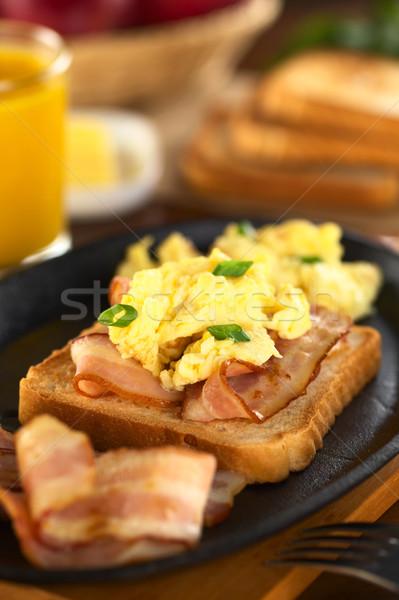 Bacon and Egg on Toast Bread Stock photo © ildi