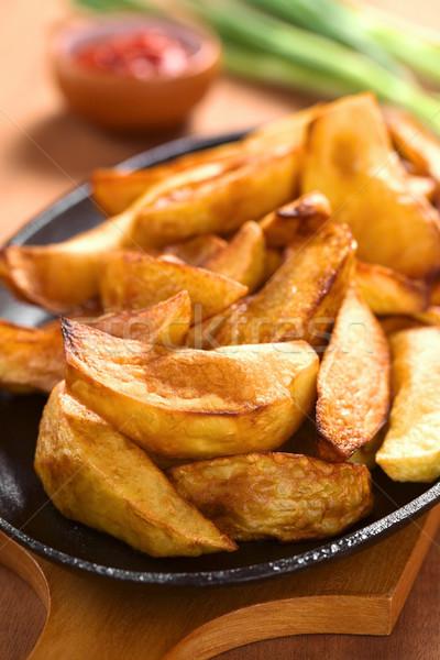 Aardappel vers eigengemaakt metalen Stockfoto © ildi