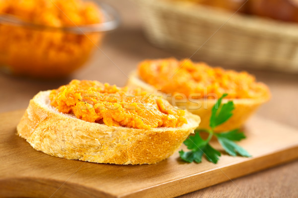 Sweet Potato Spread on Baguette Stock photo © ildi