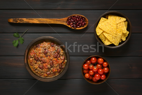 Chili tortilla chip shot ingredienti essiccati Foto d'archivio © ildi