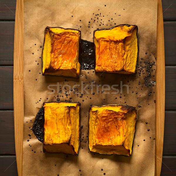 édes sült sütőtök darabok cukor felső Stock fotó © ildi