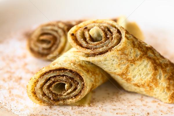 Crepe with Cinnamon and Sugar Stock photo © ildi
