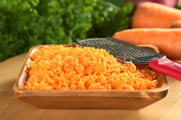 Fresh Grated Carrots Stock photo © ildi