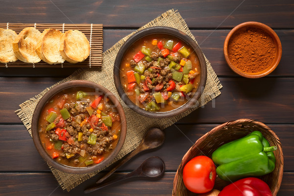 Vegan Goulash with Soy Meat Stock photo © ildi
