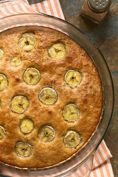 Banán fahéj torta frissen sült házi készítésű Stock fotó © ildi