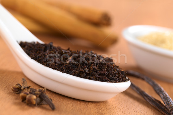 сушат черный чай специи свободный керамической Сток-фото © ildi