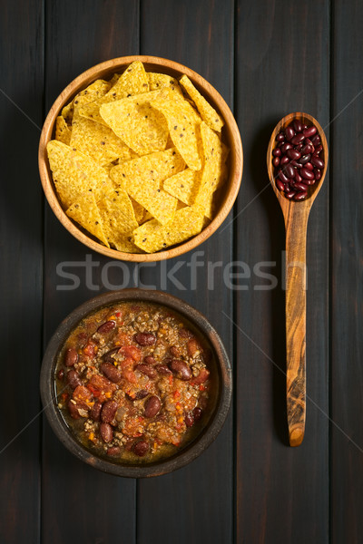 Chili con Carne and Tortilla Chips Stock photo © ildi
