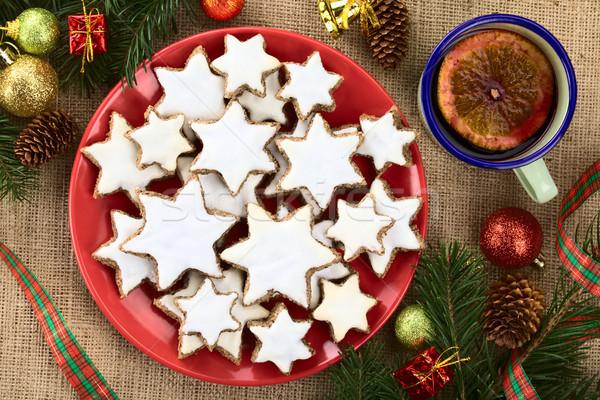 Рождества Cookies традиционный корицей звезды землю Сток-фото © ildi