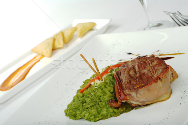 Meat with Rice Stock photo © ildi
