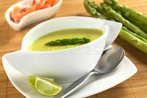 Cream of Asparagus Stock photo © ildi