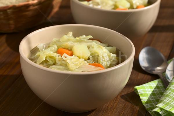 Savoy Cabbage, Carrot and Potato Stew or Soup Stock photo © ildi