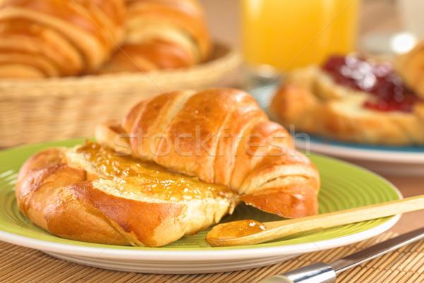 Croissant with Orange Jam Stock photo © ildi