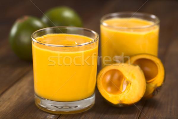 фрукты служивший стекла плодов вокруг избирательный подход Сток-фото © ildi