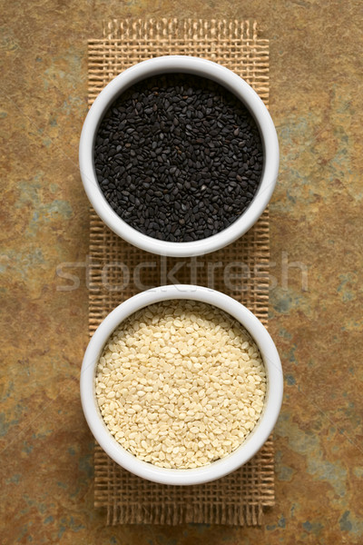 Black and White Sesame Seeds Stock photo © ildi