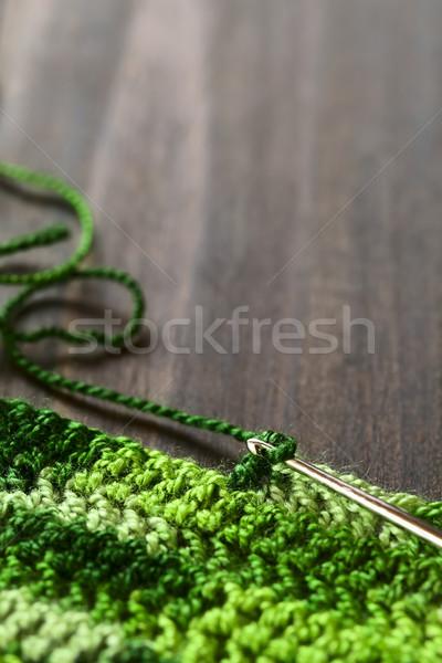 Tığ işi yer dışarı yeşil iplik Stok fotoğraf © ildi