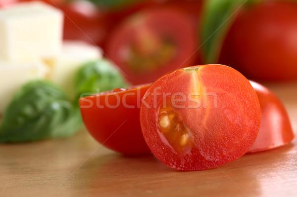 Cherry Tomato Cut in Half Stock photo © ildi