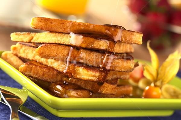 Akçaağaç şurup fransız tost seçici odak Stok fotoğraf © ildi