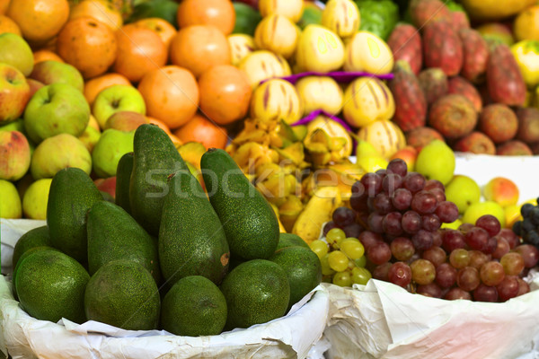 Stock photo: Avocado and Fruits on Peruvian Market
