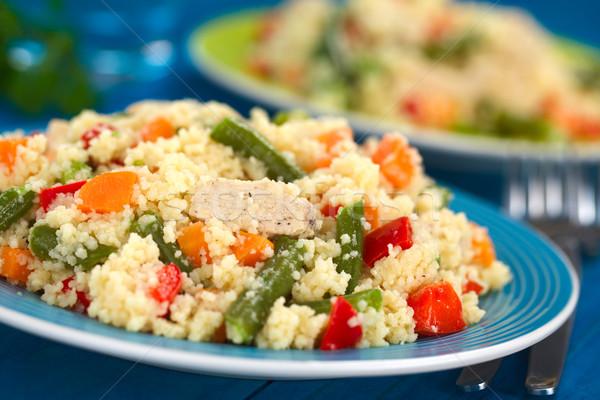 Couscous kip groene bonen wortel schotel Stockfoto © ildi