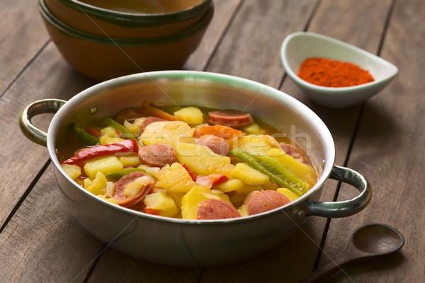 Patates yemek güveç soğan Stok fotoğraf © ildi