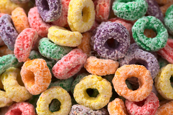 Colorful Cereal Loops with Different Fruit Flavour Stock photo © ildi