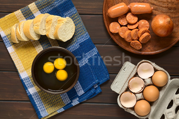 Raw Eggs Stock photo © ildi