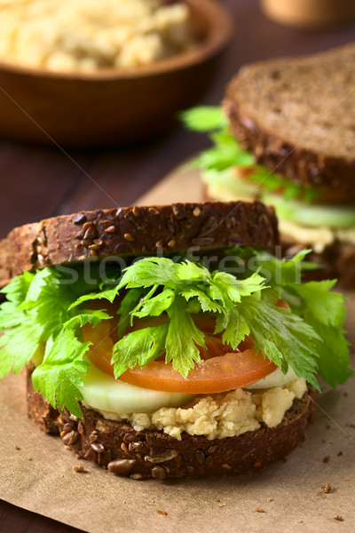 Vegan Wholegrain Sandwich Stock photo © ildi