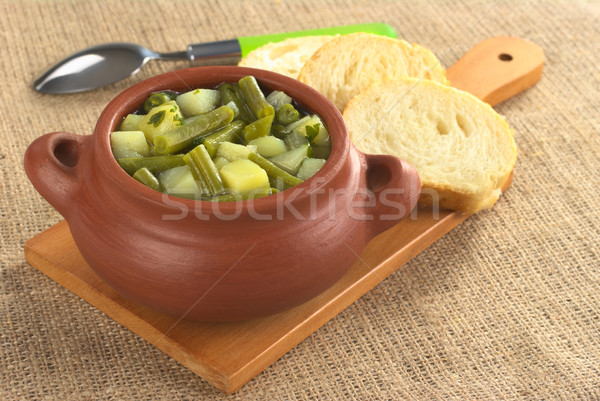Green Bean and Potato Hotpot Stock photo © ildi