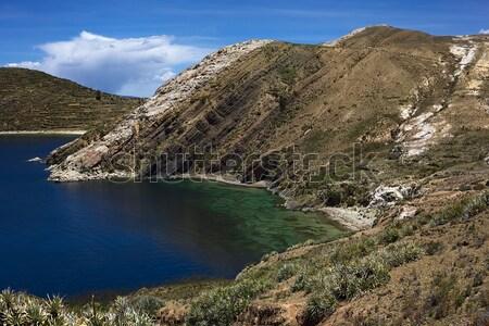 Isla del Sol (Island of the Sun) in Lake Titicaca, Bolivia Stock photo © ildi
