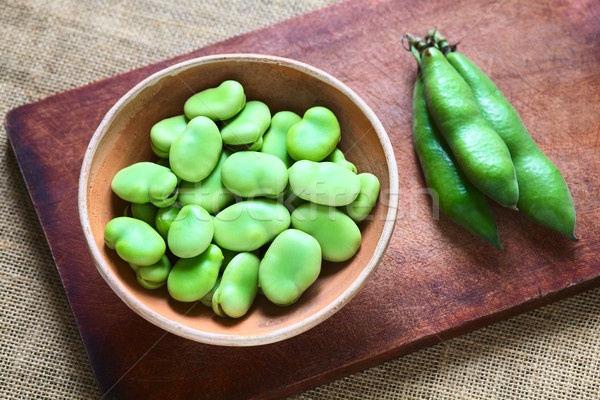 Raw Broad Beans Stock photo © ildi