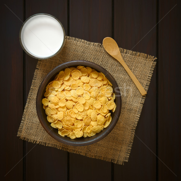 Corn Flakes Breakfast Cereal and Milk Stock photo © ildi