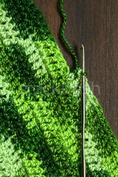 Horgolás készít hely ki zöld Manhattan Stock fotó © ildi