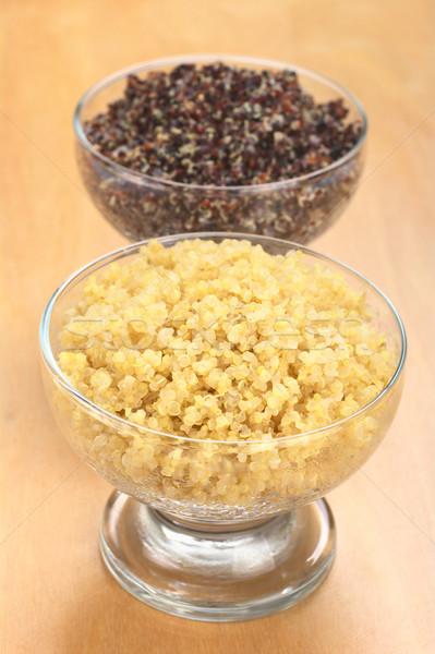 Cooked White and Red Quinoa Stock photo © ildi