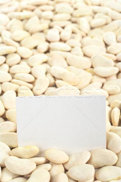 сушат масло боб пустую карту сырой Лима Сток-фото © ildi