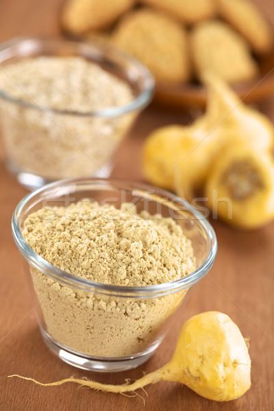 Maca Root and Maca Powder (Flour) Stock photo © ildi