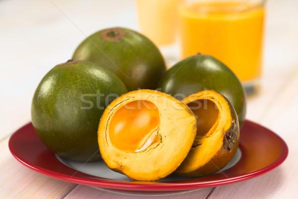 Peruvian Fruit Called Lucuma Stock photo © ildi