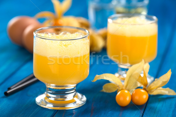 Peruvian Cocktail Called Aguaymanto (Physalis) Sour Stock photo © ildi