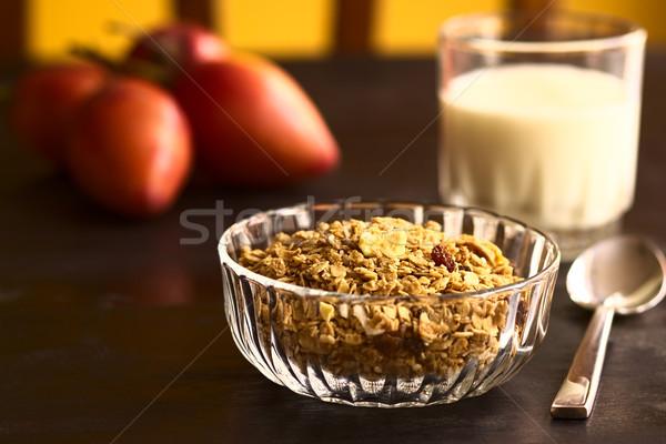 Ontbijtgranen uit haver zemelen sesam Stockfoto © ildi