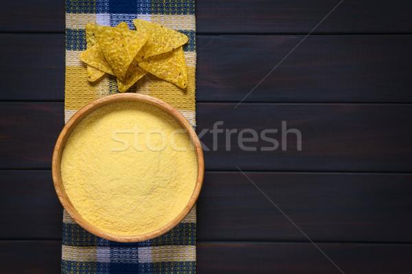 Cornmeal and Tortilla Chips Stock photo © ildi