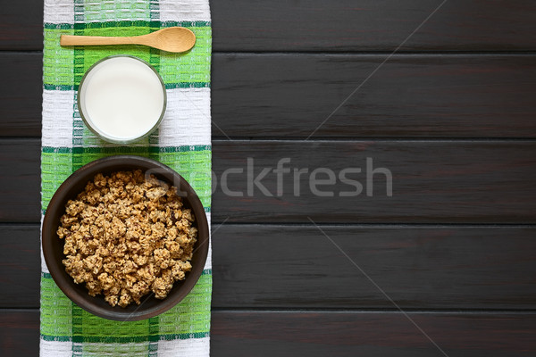 Breakfast Cereal with Milk Stock photo © ildi