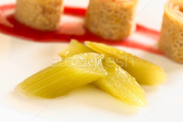 Fresh Rhubarb Compote Stock photo © ildi